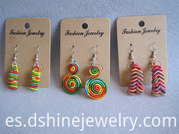 Multicolor Thread Weaved Earring