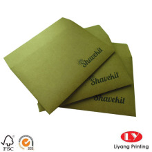 Rigid brown kraft paper envelope for mailing