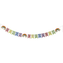 Felt rainbow happy birthday bunting banner