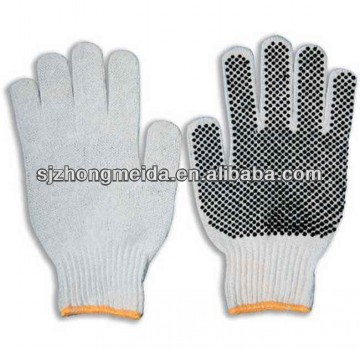 pvc dot cotton hand gloves