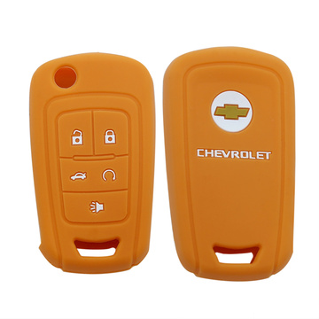 5 Button Silicone Car Key Cover For Chevrolet