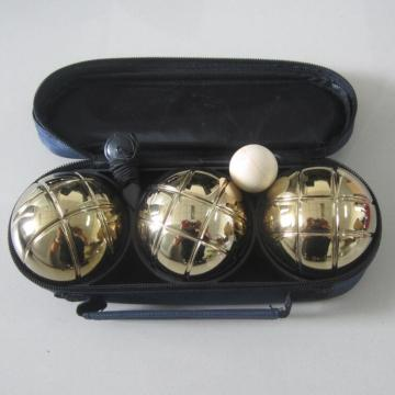 Petanque Boules Bocce Set Golden