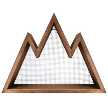 Rustic Triangle Wall Art Geometric Decor Shelf for Nursery