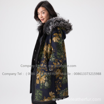 Mink Fur Overcoat In Winter