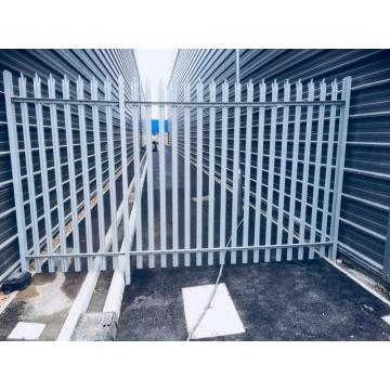 steel palisade security fence 2.4 metre high green