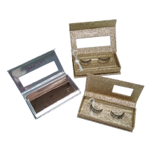 Custom Glitter paper Eyelashes Paper Box