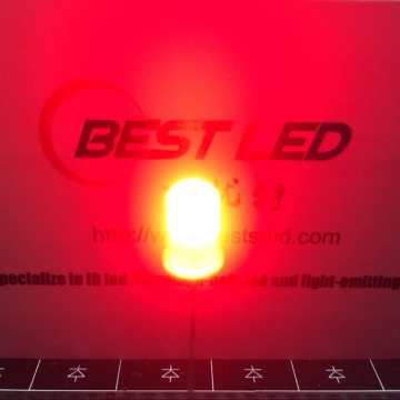 High Bright 5mm Red 625nm Through-hole LED