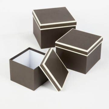 wholesale luxury paper cardboard square flower gift box