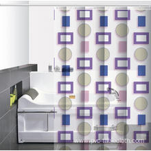 Waterproof Bathroom printed Shower Curtain 8 Feet