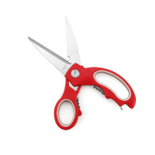 Multifunctional kitchen scissors kitchen tools red