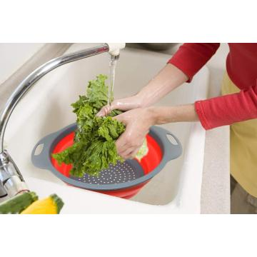 2PCS Collapsible Kitchen Folding Strainer Colander
