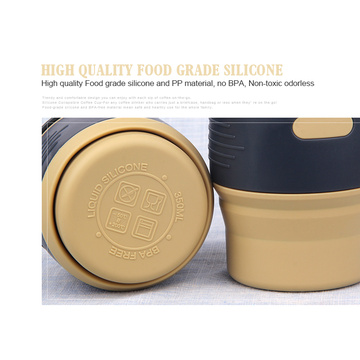 Portable Drinking Folding Silicone Travel Coffee Mug