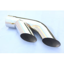 Europe style for Stainless Steel Tail Pipes Dual outlets Slant Cut Exhaust Tip supply to Madagascar Wholesale