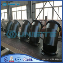 China OEM for Leading Manufacturer Welded Bend With Flanges Welded steel hot bend pipe supply to Singapore Factory