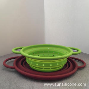 Silicone multifunctional collapsible fruit vegetable basket