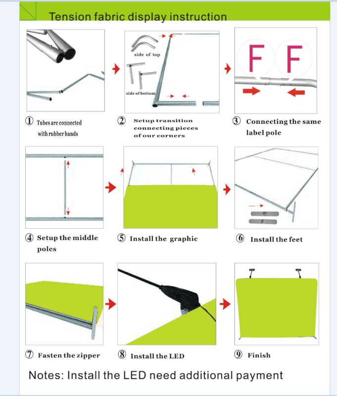 tension fabric display instruction