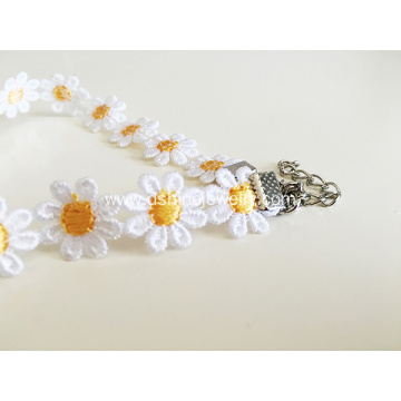 Yellow Daisy Lace Choker Ebay Item Whoesale Lace Necklace