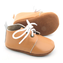 China Supplier for New Designs Baby Oxford Shoes Quality Genuine Leather Soft Baby Cute Oxford Shoes export to Japan Manufacturers