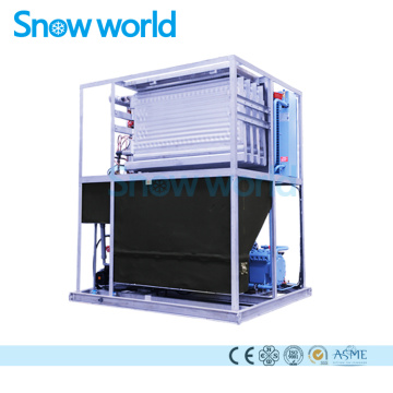 Snow world Ice Plate Making Machine 1T