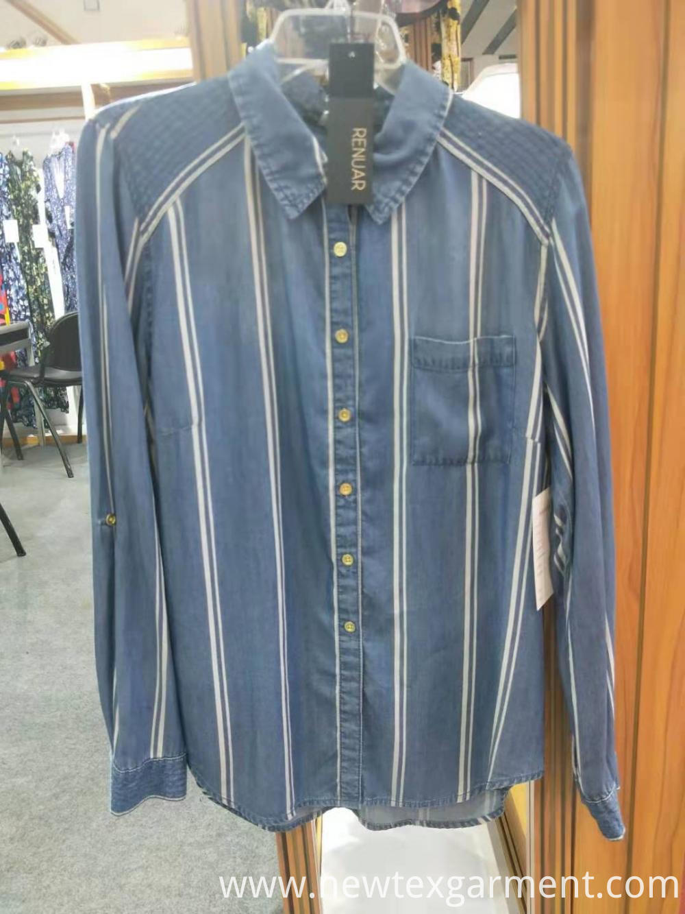 Customized Stripe Denim Shirt