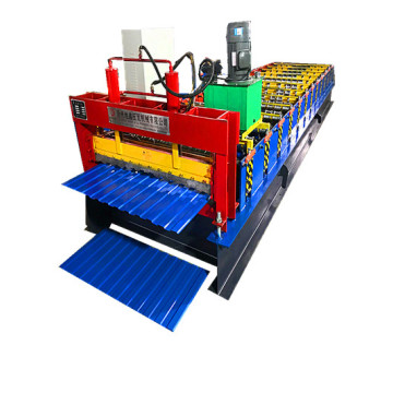CE ISO Steel trapezoidal roof tile making machinery