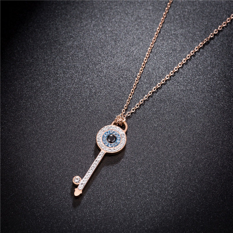 Key Necklace With Diamonds
