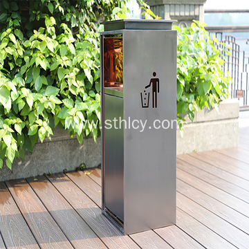 Outdoor Stainless Steel Hotel Mall Trash Can