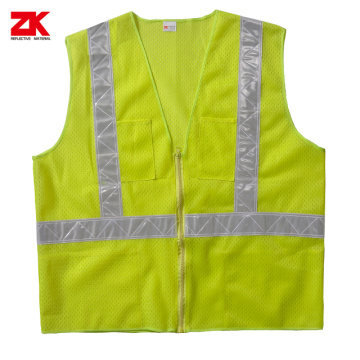 Cheap High visibility reflective security jacket