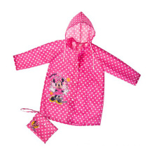 Waterproof Hooded Polka Dot Children Raincoat