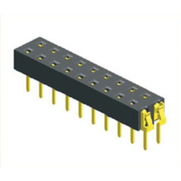 China for Pcb Connector 1.27mm Female Header Dual Row Straight Type export to Belize Exporter