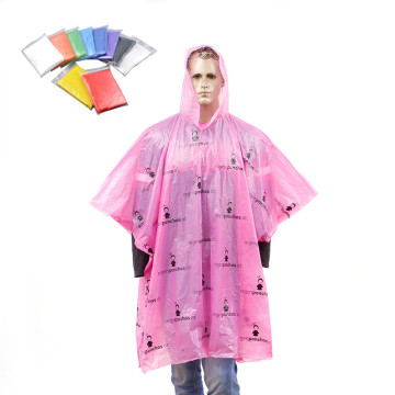 disposable allover printing logo raincoats