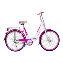Customized for Best Lady City Bike, Beautiful Lady Bicycle, Pink Lady Bicycle Manufacturer in China Ladys Bikes with Double Stand supply to Mauritania Supplier