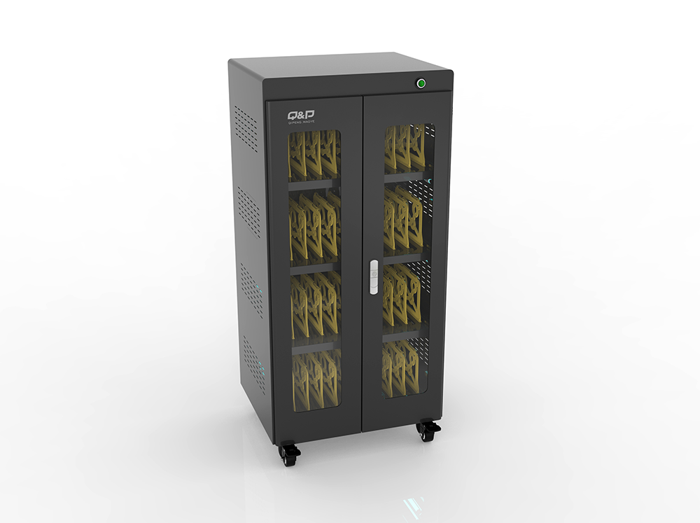 Security locker charging cart