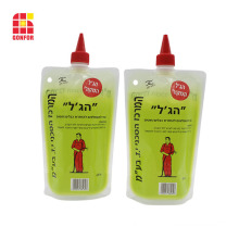 Stand Up Liquid Packaging Pouch With Spout