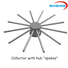 Wedge Wire Screen Collector with Hub Spokes