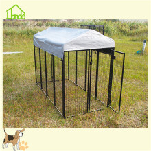 Portable metal dog kennel fence
