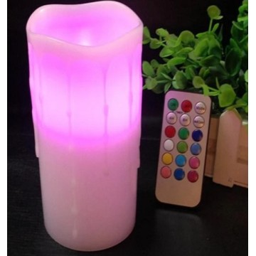 Color Candle Led Hurricane Bulb With Timer