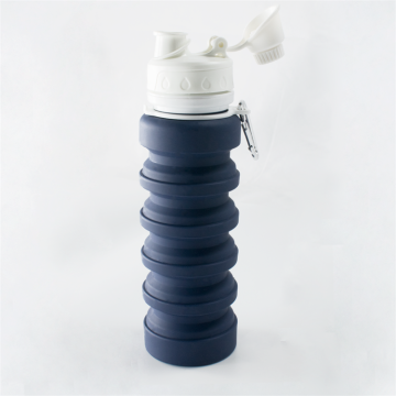 Flexible Silicone Collapsible Drinking Water Bottle