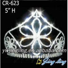 Beauty Rhinestone Flower Shape Pageant Crowns