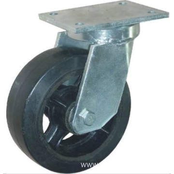 8'' Top Plate Swivel Industrial Caster Rubber Wheel