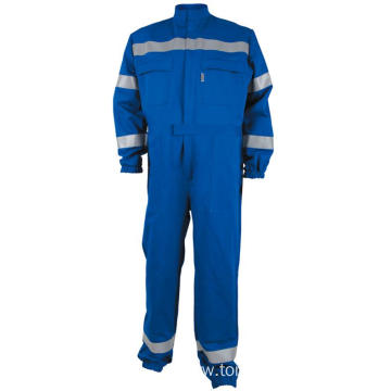 100% Cotton Protective Overall with Reflective Tape