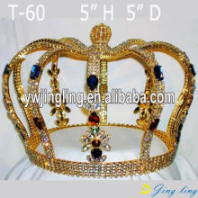 Full Round  Boy Crown Gold Pageant Crowns