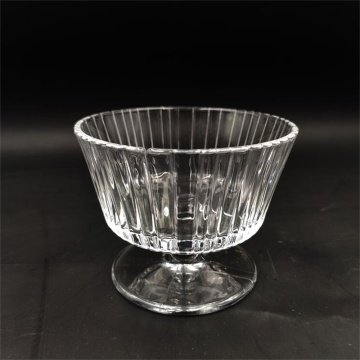 Cheap price ribbed ice cream glass