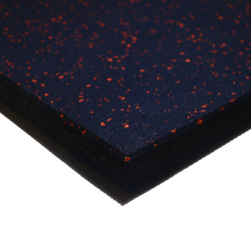 high quality rubber flooring with blue EPDM