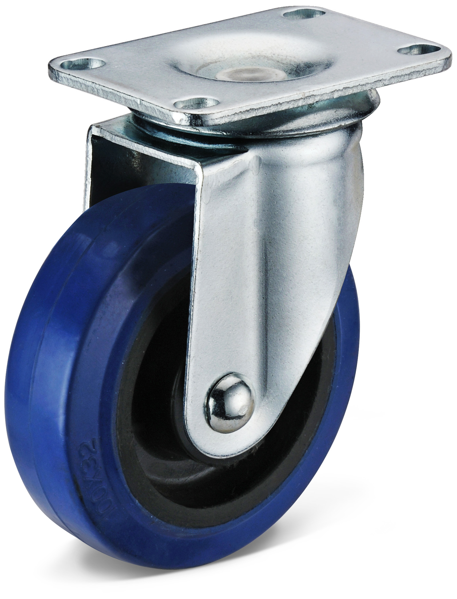 Elastic Rubber Small Flat Bottom Casters