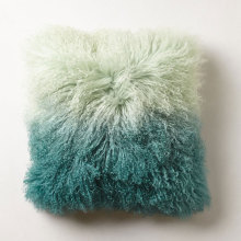 China for Mongolian Lamb Fur Lumbar Pillow Ombre Fur Cushion In Bedroom supply to Azerbaijan Factories