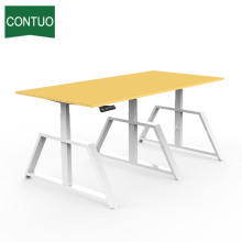 High Efficiency Factory for China Three Legs Standing Desk,Adjustable Study Table,Motorized Standing Desk Manufacturer and Supplier Steel Leg Conference Table Meeting RoomTable supply to Bahrain Factory