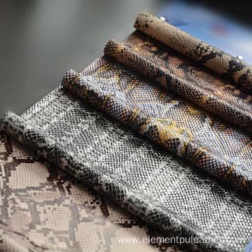 Snake skin synthetic PU leather  for garment