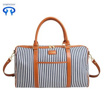 Korean version leisure stripe travel bag fashionable