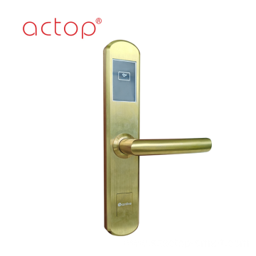 Smart hotel door handle lock